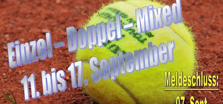 Clubmeisterschaften 2016 – Meldeschluss 07. September